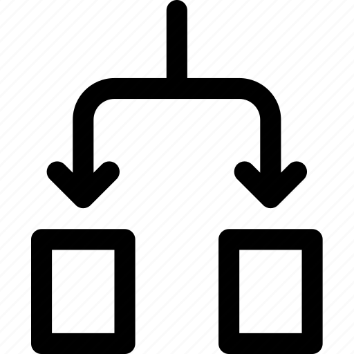 activity, breakdown, chart, distribute, flow, process, subdivision icon