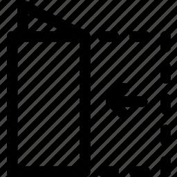 center, fold, half, letter, note, paper icon