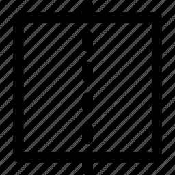 ballance, center, line, middle, paper, square icon