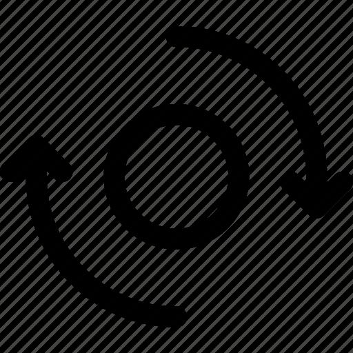 ball, circle, circulation, rotation, sphere, spinning icon