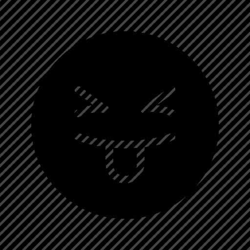 emoji, emoticon, fun, happy, silly, stupid, tongue out icon