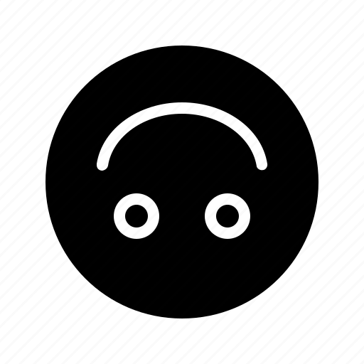 emoji, emoticon, fake smile, hate, reverse smile, smile, upside down icon
