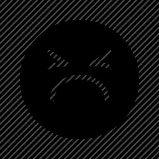 emoji, emoticon, fail, grim, moody, pouting, sad icon