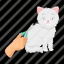 animal, cat, haircut, medicine, scissors, tool, vet clinic icon