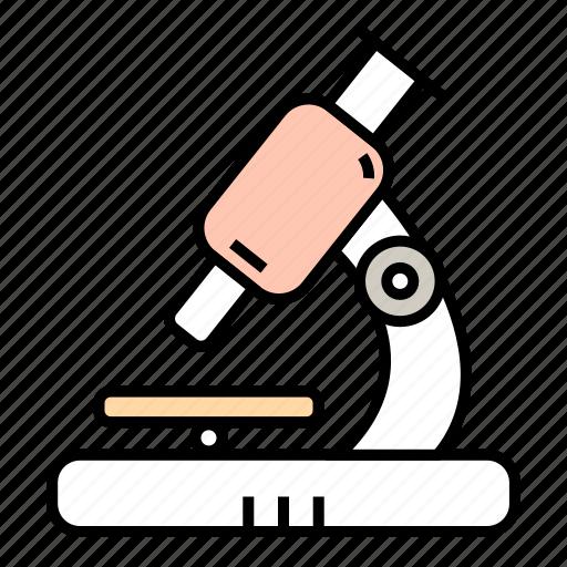 experiment, laboratory, microscope, research, veterinary icon