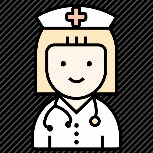 doctor, girl, medicine, veterinary, woman icon