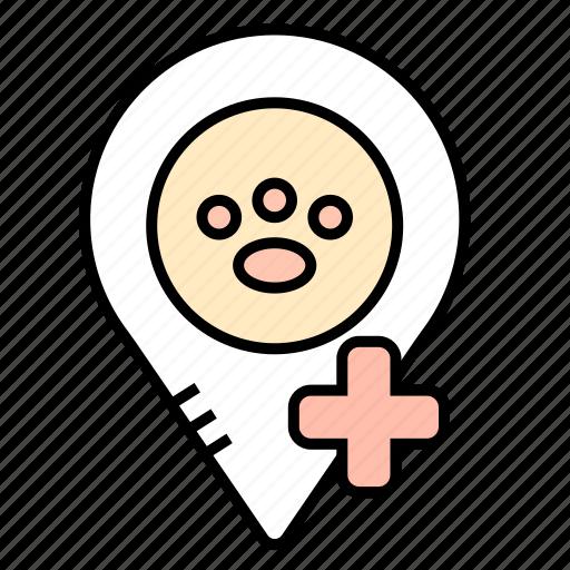 location, medicine, navigation, veterinary icon