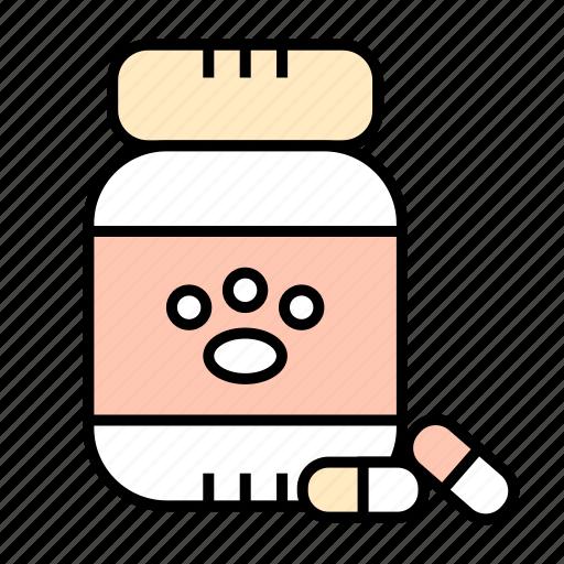 drugs, medicine, pills, tablets, veterinary icon