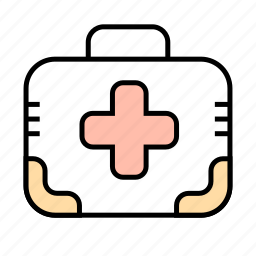 cross, first aid, kit, medicine, veterinary icon