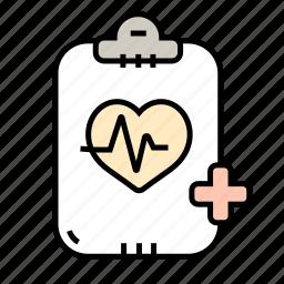 analysis, graph, heart, medicine, veterinary icon