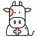 animals, cow, medicine, veterinary icon