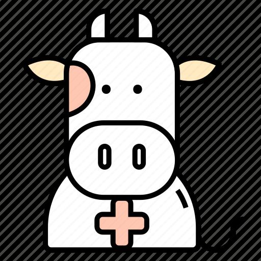 animals, cow, medicine, veterinary icon