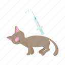 animal, blog, cartoon, cat, injection, receives, site icon