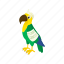 bird, blog, cartoon, parrot, sick, site, vet icon