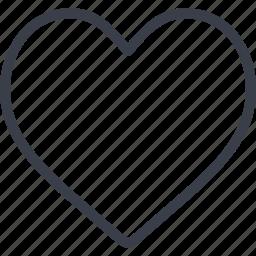 heart, love, organ, romantic, thermometer, veterinary icon