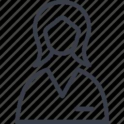 avatar, girl, person, profile, veterinary, woman icon