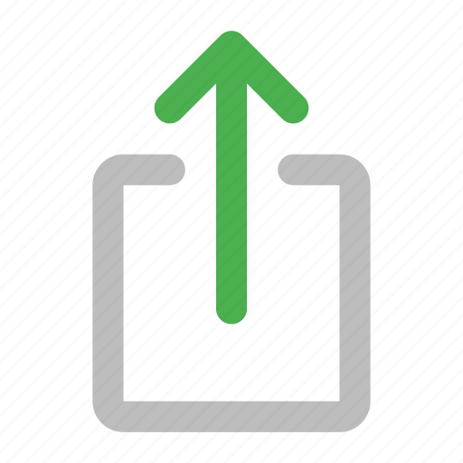 action, arrow, export, share, up, upload icon