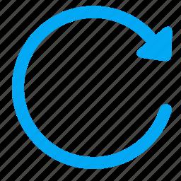 action, arrow, refesh, reload, undo icon