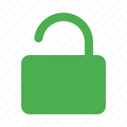 action, protect, retriction, secure, unlock icon
