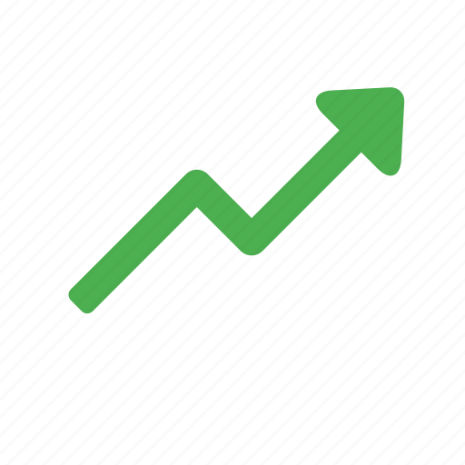 action, arrow, increase, trending, up icon