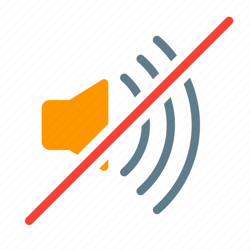 action, loudspeaker, mute, sound, volume icon