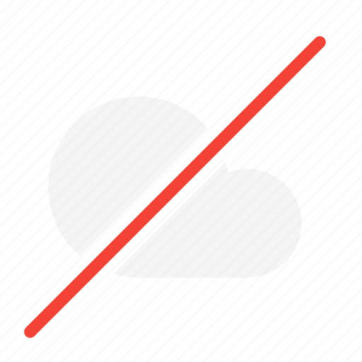 action, cloud, forecast, network, no, weather icon