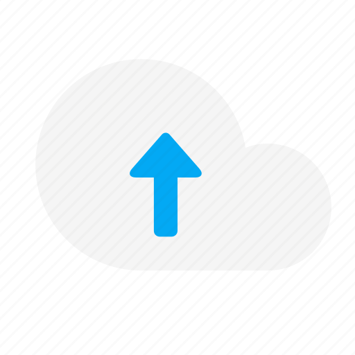 action, arrow, cloud, network, up, upload icon