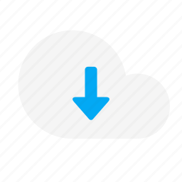 action, arrow, cloud, down, download, network icon