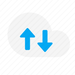 action, arrow, cloud, down, fetch, network, up icon