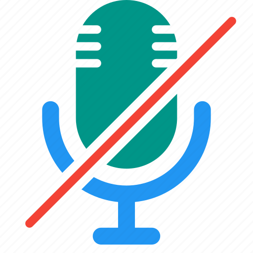 action, audio, microphone, no, recorder, sound icon