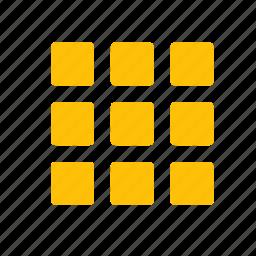 action, block, item, keypad, layout, view icon