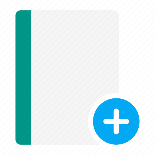 action, add, book, notebook, plus, read icon