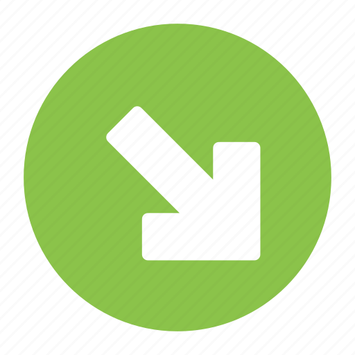 Arrow, bottom, direction, down, move, right icon - Download on Iconfinder