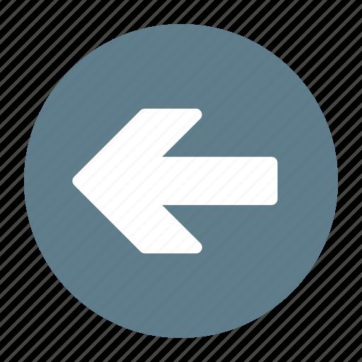 arrow, back, backward, direction, left, previous icon