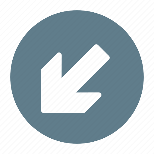 Arrow, bottom, direction, down, left, move icon - Download on Iconfinder