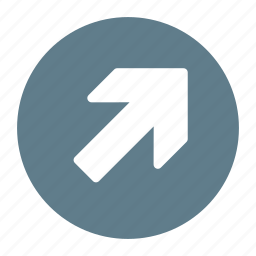 arrow, direction, move, right, top, up icon