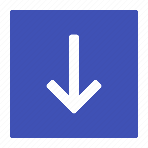 arrow, bottom, direction, down, download icon