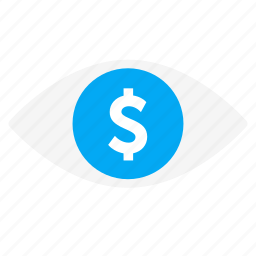 business, eye, investigate, money, see, view icon