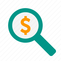 business, find, investigate, money, search, view icon