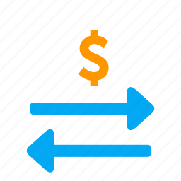 arrow, business, dollar, exchange, money, transfer icon