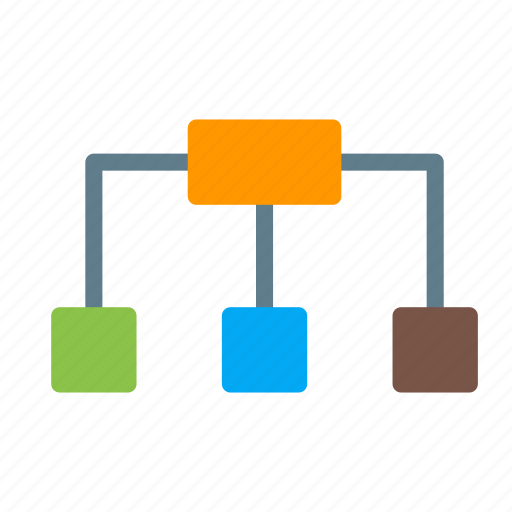 business, hierarchy, organization, relation, structure icon