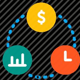 balance, business, plan, relation, share icon
