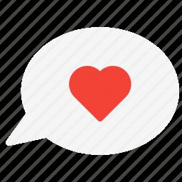 bubble, chat, conversation, heart, love, message, talk icon
