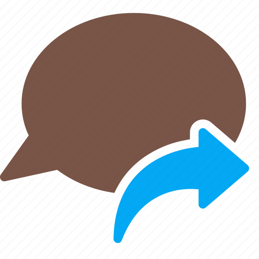 arrow, bubble, chat, conversation, message, reply, talk icon