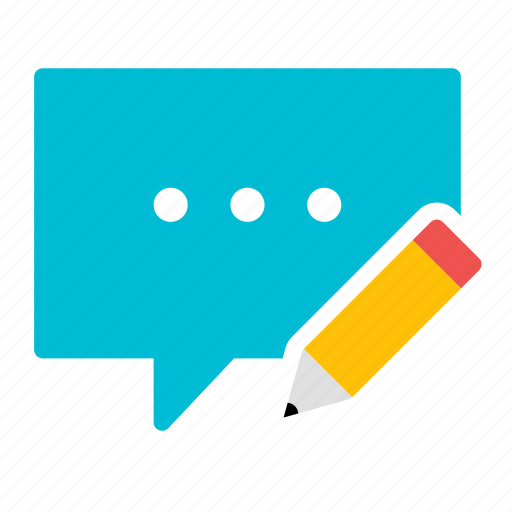 bubble, chat, conversation, edit, message, pencil, write icon