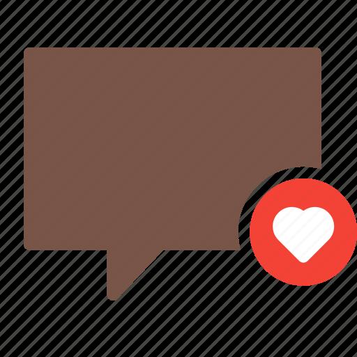 bubble, chat, conversation, favorite, heart, message, talk icon