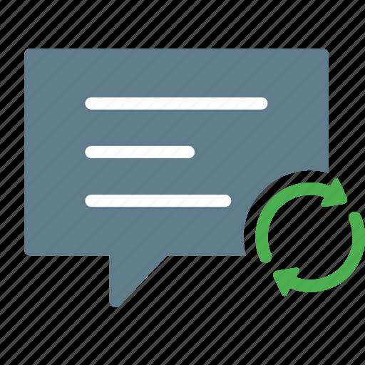 bubble, chat, conversation, message, sync, talk icon