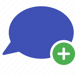 add, bubble, chat, conversation, message, new, talk icon