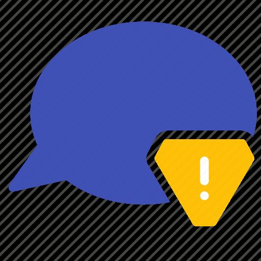 alert, attention, bubble, chat, conversation, message, talk icon