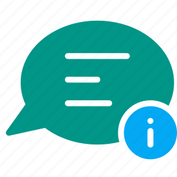 bubble, chat, conversation, detail, infomation, message, talk icon